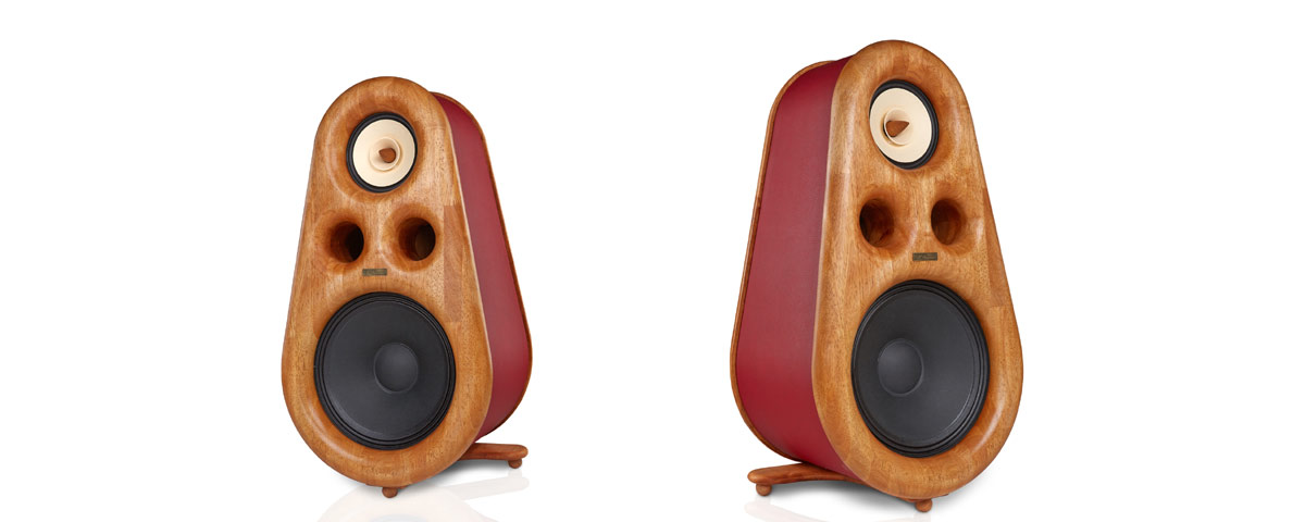 High-End speakers Euphoria, wooden variant